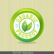 Organic label or sticker for products. - Stock Vector