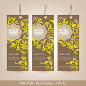 Set of Natural Premium Quality Labels. — Stock Vector