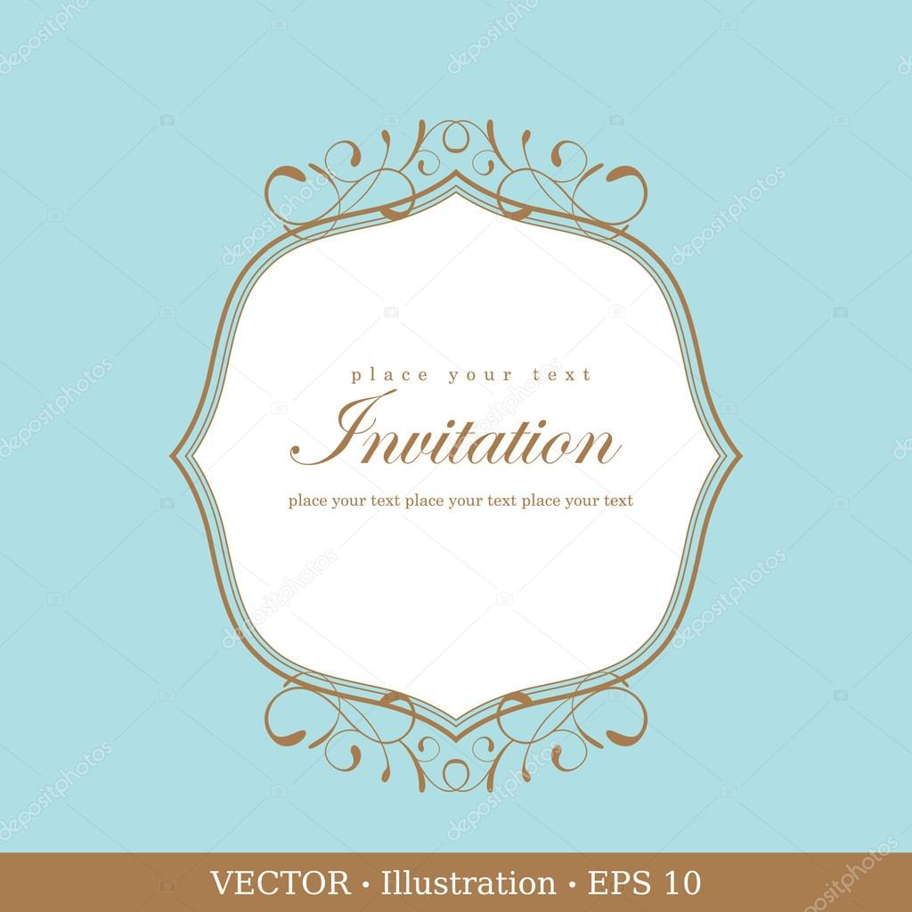 Invitation vintage card. Wedding or Valentine`s Day. Vector illustration. — Stock Vector #17865169