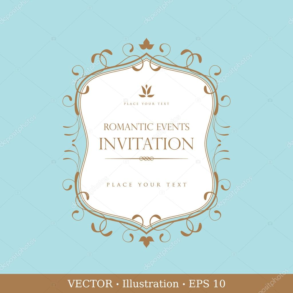 Invitation vintage card. Wedding or Valentine`s Day. Vector illustration. — Stock Vector #17865173