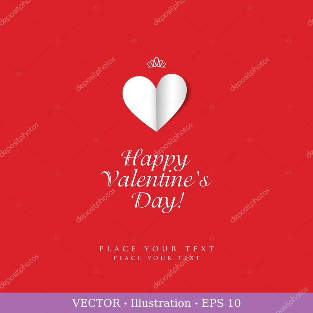 Valentine`s day or Wedding card with heart and a field for your text. Vector illustration. — Grafika wektorowa #17865189