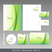 Corporate identity template. — Vettoriale Stock