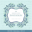 Royalty-Free Stock Vector Image: Vintage card with floral ornament design.