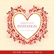 Elegant greeting card with heart. — Vettoriale Stock