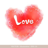 Invitation card of Valentine`s day or Wedding. — Stock Vector