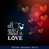Elegant greeting card with heart. Valentine's day background. — Stock Vector
