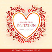 Elegant greeting card with heart. — Stock Vector