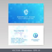 Business Card Set. Vector illustration — Stock Vector