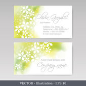 Business Card Set. Vector illustration — Stock Vector