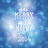 Merry Christmas and Happy New Year card — Stock Vector