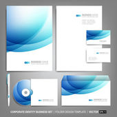 Corporate identity template for business artworks — Stockvektor