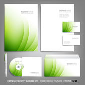 Corporate identity template for business artworks — Stock Vector