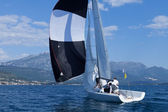 Outdoor activities. The sailing yachts — ストック写真