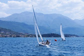 Outdoor activities. The sailing yachts — Stock Photo