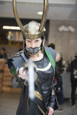 Loki cosplayer. — Stock Photo