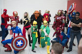 Marvel cosplayers — Stock Photo