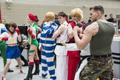 Street Fighter cosplayers — Stock Photo