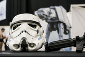 Storm trooper helmet — Stock Photo