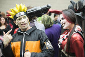 Harley Quinn and Naruto. — Stock Photo