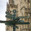York directions post — Stock Photo