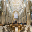 Stock Photo: YORK, UK - MARCH 30: Nave arein York Minster. cathedra