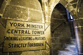 Entrance to the roof of York Minster, in the UK. The Minster dat — Stock fotografie