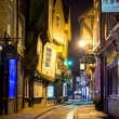 Stock Photo: YORK, UK - MARCH 30: Shambles is former butchers' street i