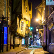 Stockfoto: YORK, UK - MARCH 30: Shambles is former butchers' street i
