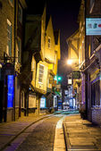 YORK, UK - MARCH 30: The Shambles is a former butchers' street i — Stock Photo
