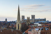 YORK, UK - MARCH 29: North of York as seen from Clifford's Tower — Stock Photo