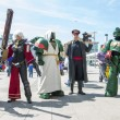 LONDON, UK - May 26: Warhammer cosplayers dressed as space marin — Foto de Stock