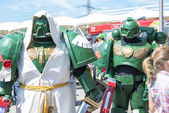 LONDON, UK - May 26: Warhammer space marine cosplayers outside t — Stock Photo
