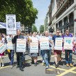 LONDON, UK - JUNE 29: Participants at the gay pride protesting a — Stock Photo