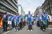 LONDON, UK - JUNE 29: London Gay Men's Chorus at the Gay Pride P — Stock Photo