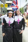 LONDON, UK - JUNE 29: Participant at the gay pride posing for pi — Stock Photo
