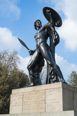 Statue of Achilles in Hyde Park, London, UK, dedicated to the Du — Stock Photo
