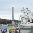 PARIS, FRANCE - OCTOBER 20: The Obelisque seen from the horsesho — Stock Photo