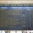 Paris, FRANCE - OCTOBER 21: Departures board in Gare ru Nord sho — Stock Photo