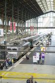Paris, França - 21 de outubro: tiro de alto ângulo de plataforma na gare — Fotografia Stock