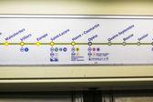 Paris, FRANCE - OCTOBER 21: Detail shot of metro line sign insid — Stock Photo