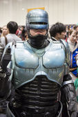 LONDON, UK - OCTOBER 26: Cosplayer dressed as Robocop for the Co — Stock Photo