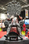 LONDON, UK - OCTOBER 26: Castelvania's Dracula statue inside the — Stock Photo