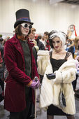 LONDON, UK - OCTOBER 26: Cosplayers dressed as Charlie from the — Stock Photo