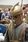 LONDON, UK - OCTOBER 26: Steampunk rocketeer outfit in the Comic — Stock Photo