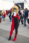 Cosplayers dressed as a  Harley Quinn — Stock Photo