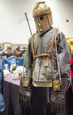 Steampunk rocketeer outfit — Stock Photo