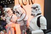 LONDON, UK - OCTOBER 26: Cosplayers dressed as Storm Troopers fr — Stock Photo