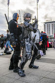 LONDON, UK - OCTOBER 26: Cosplayer dressed as a  Raiden from Met — Stock Photo