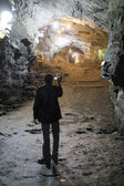 OURO PRETO, BRAZIL - JULY 27: Tourist filming the Passage Mines  — Stock Photo