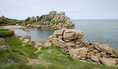 Pink granite coast, France — Stock Photo